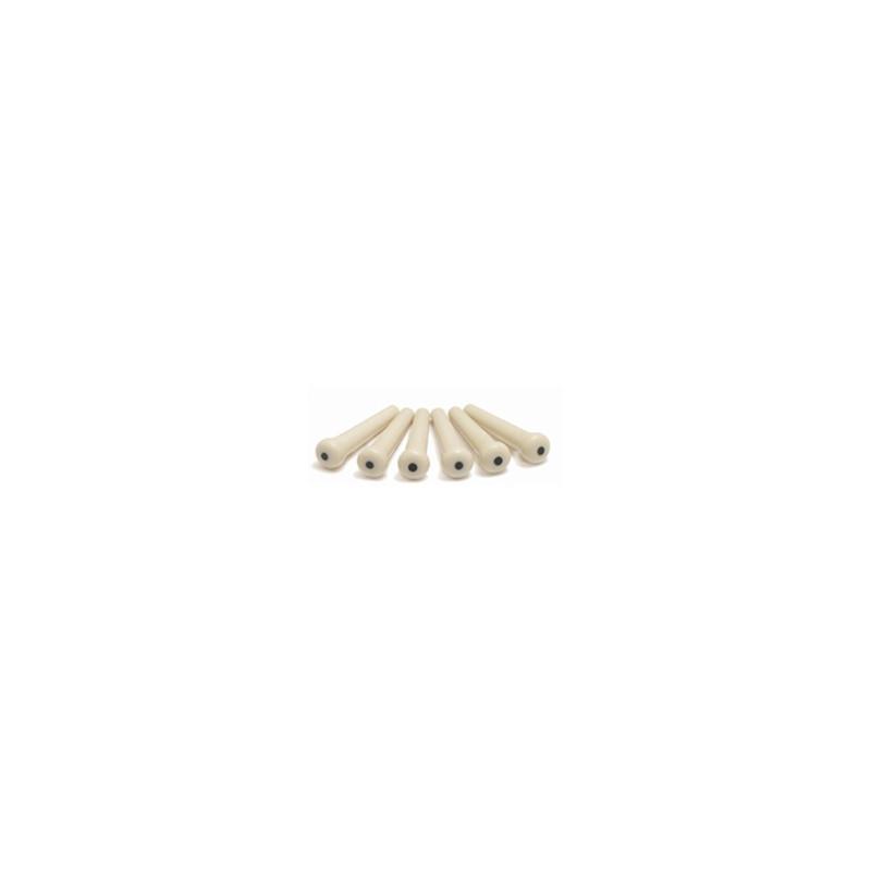 Tusq Bridge Pins with traditional black dot