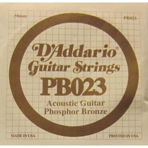 D'Addario phosphor bronze 023