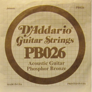 D'Addario phosphor bronze 026