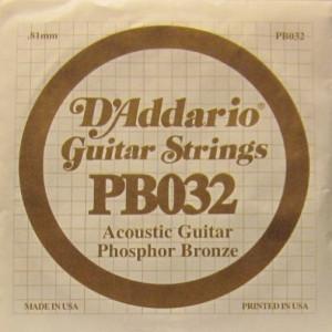 D'Addario phosphor bronze 032