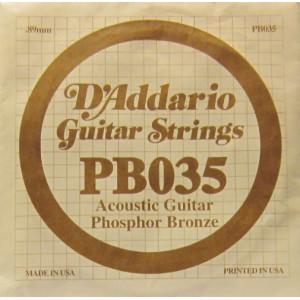 D'Addario phosphor bronze 035