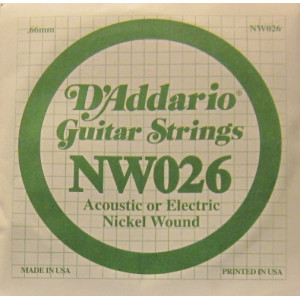 D'Addario nickel wound 026