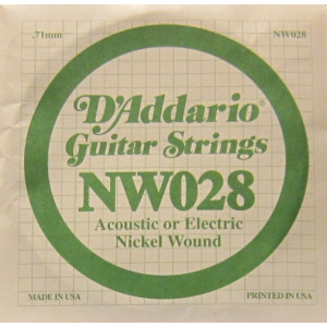 D'Addario nickel wound 028