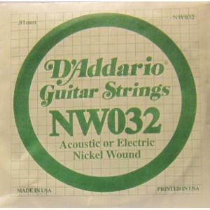 D'Addario nickel wound 032