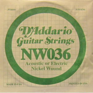D'Addario nickel wound 036