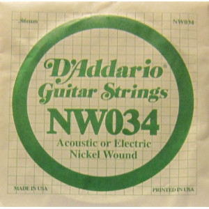 D'Addario nickel wound 034