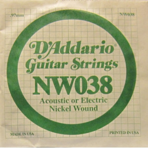 D'Addario nickel wound 038