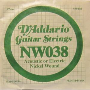 D'Addario nickel wound 038