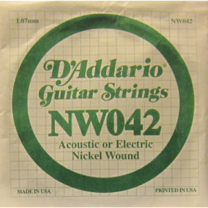 D'Addario nickel wound 042
