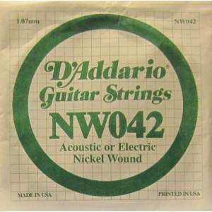 D'Addario nickel wound 042
