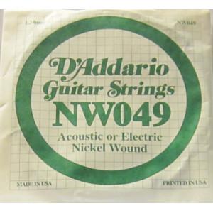 D'Addario nickel wound 049