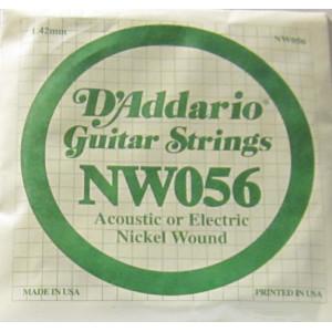 D'Addario nickel wound 056