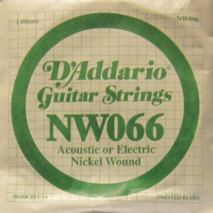 D'Addario nickel wound 066