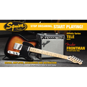 Squier Tele Affinity Pack 15G Brown Sunburst Elgitarrpaket