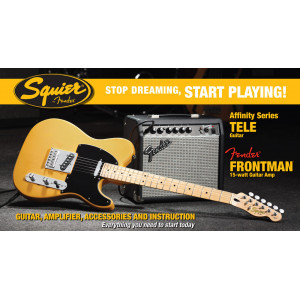 Squier Tele Affinity Pack 15G Butterscotch Blonde Elgitarrpaket