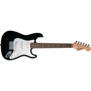 Squier 3/4 Mini V2 Stratocaster JUNIOR elgitarr Svart