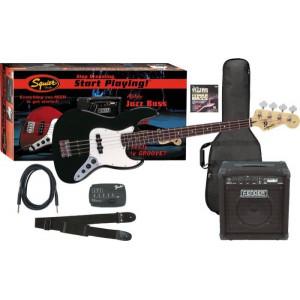Squier Affinity Jazz Bass + Rumble 15W Svart Elbaspaket