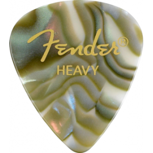 Fender Plektrum Classic Shape Abalone Heavy