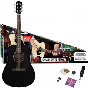 Fender CD-60 Svart Gitarrpaket / Acoustic Pack