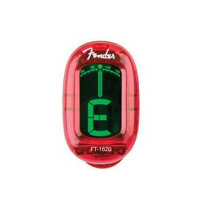 Fender California Clip-On Tuner Candy Apple Red