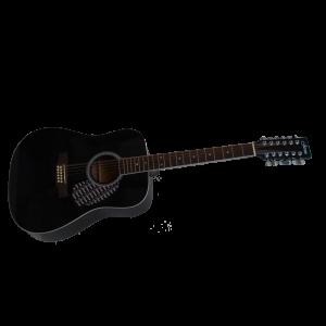 Jason Westerngitarr 12 strängad svart 12701-BK