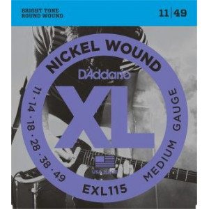 D'Addario XL115 .011-.049 El, Set