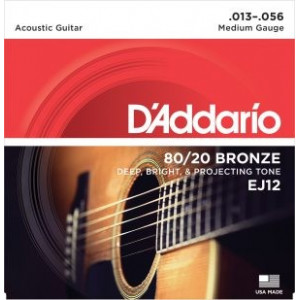 D'Addario EJ12 80/20 Bronze Medium .013