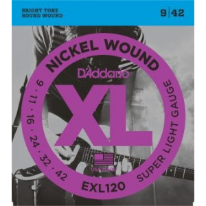 D'Addario XL120 .009-.042 El, Set
