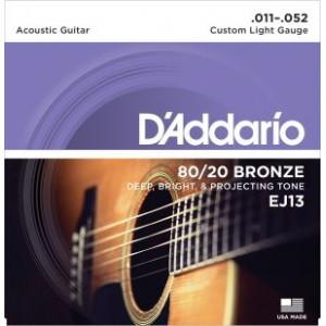 D'Addario EJ13 80/20 Bronze Custom Light 011