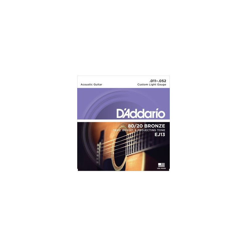 D'Addario EJ13 80/20 Bronze Custom Light 011