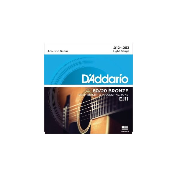 D'Addario EJ11 80/20 Bronze Light .012