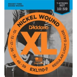 D'ADDARIO XL110-7 .010-.059 EL, 7 str, SET