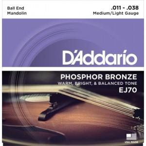 D'Addario J70 mandolinsträngar med kula