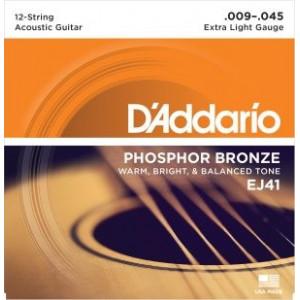 D'Addario EJ41 12-strängat 009 set
