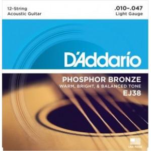 D'Addario EJ38 12-strängat Light