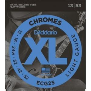 D'Addario Chromes CG25 .012-.052, Set
