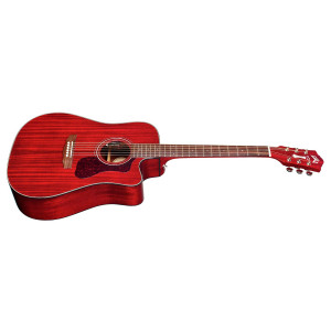 Guild D-120 Mahogny Cherry Red m Mikrofon