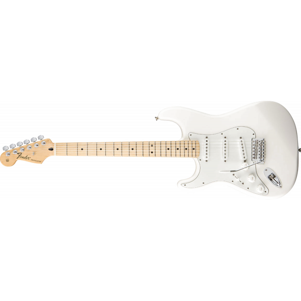 Fender Stratocaster Vänster Standard Arctic White Maple Neck