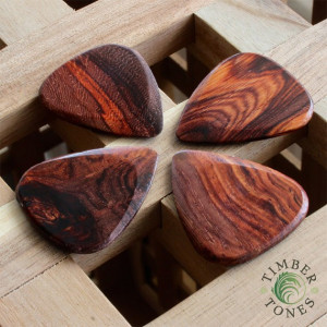 Timber Tones Burma Padauk Plektrum