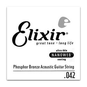 Elixir Phosphor Bronze Single Acoustic Guitar NANOWEB 042
