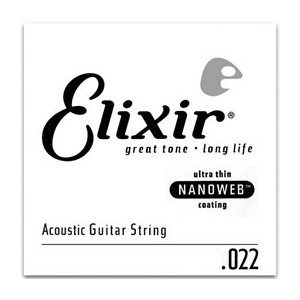 Elixir Phosphor Bronze Single Acoustic Guitar NANOWEB 032