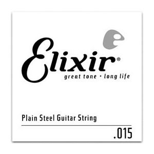 Elixir Anti-Rust Plated Plain Steel Single 016