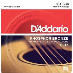D'Addario EJ17 Phosphor Medium .013