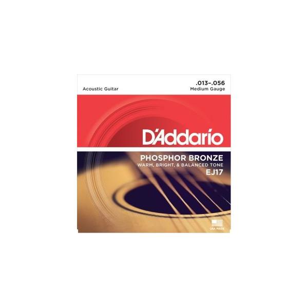 D'Addario EJ17 Phosphor Medium .013