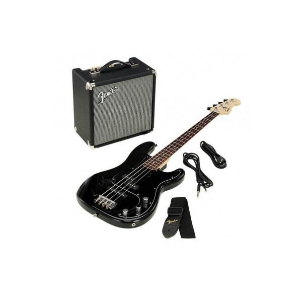 Squier Affinity Series Precision Bass® med Fender® Rumble™ 15 Amp, Butterscotsch Blonde Elbaspaket
