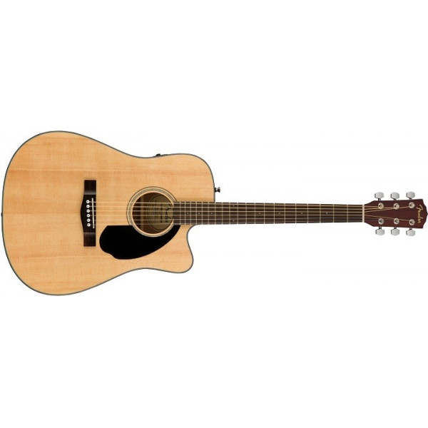 Fender CD-60SCE med Solitt Lock. Natur