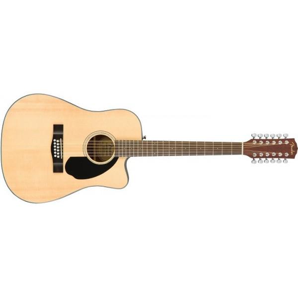 Fender CD-60SCE 12- strängad med Solitt Lock. Natur