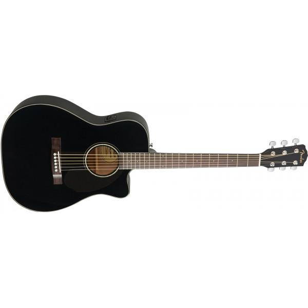 Fender CC-60SCE med Solitt Lock. Svart