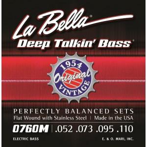 La Bella elbas 760FM Deep Talkin' Flat Wound