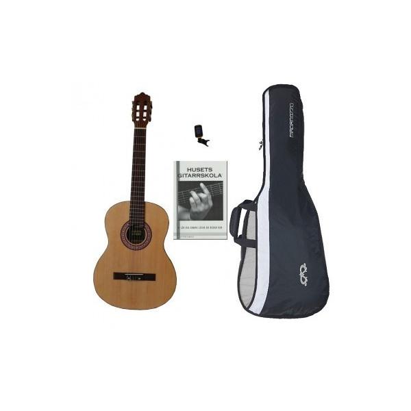 Husets Gitarr, 3/4-storlek Nybörjarpaket för barn